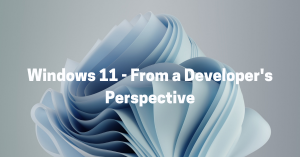 Exploring windows 11 from developers perspective