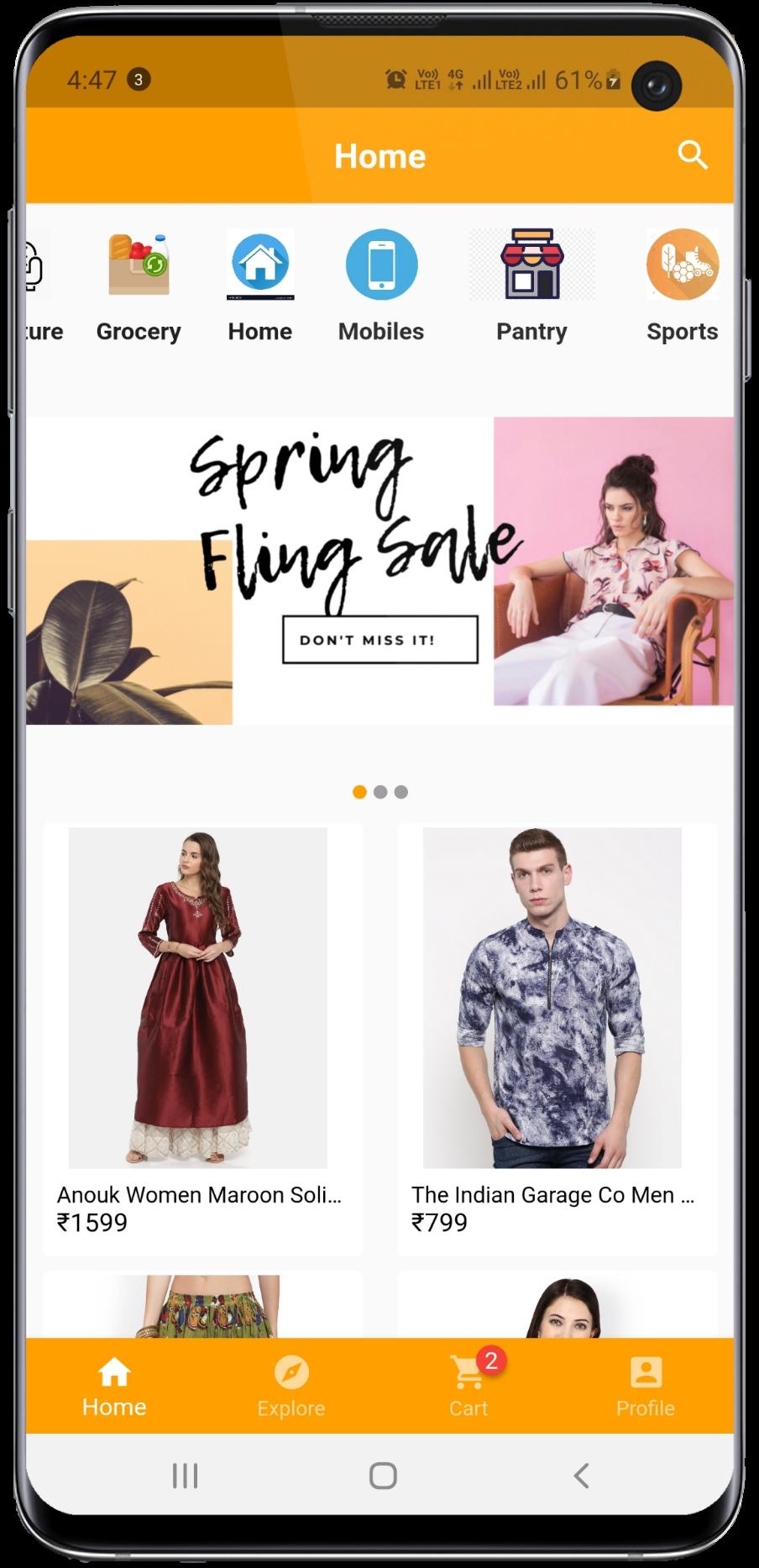 ecommerce mobile app cartwiz